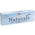 Nat Sherman Naturals Ultra Blue King Size cigarettes made in USA, 4 cartons, 40 packs.