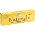 Nat Sherman Naturals Lights Yellow King Size Box cigarettes made in USA, 6 cartons, 60 packs.