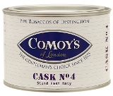 Comoys Cask No. 4 pipe tobacco, 100 g tin.