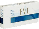 Eve 120 Slim Ultra Lights Sapphire cigarettes made in USA, 5 cartons, 50 packs. Free shipping!