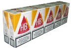 HB Red Box cigarettes made in EU, 6 cartons,60 packs.  Free shipping!