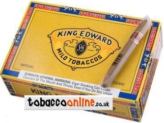 Single Box of King Edward Imperial Cigars made in Dominican Republic, Box of 50 ct. Free shipping!