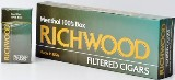 Richwood 100 Menthol Filtered cigars made in USA, 4 x 20 packs, 800 total. Free shipping!