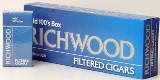Richwood 100 Mild Filtered cigars made in USA, 4 x 20 packs, 800 total. Free shipping!