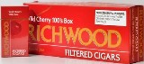 Richwood 100 Mild Cherry Filtered cigars made in USA, 4 x 20 packs, 800 total. Free shipping!
