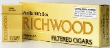 Richwood 100 Vanilla Filtered cigars made in USA, 4 x 20 packs, 800 total. Free shipping!