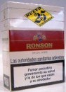 Ronson 25s White cigarettes from Spain.