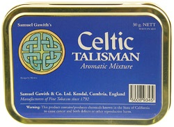 Samuel Gawith Celtic Talisman Aromatic Mixture Tinned Pipe Tobacco. 50 g tin.