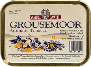 Samuel Gawith Grousemoor Tinned Pipe Tobacco. 50 g tin. Free shipping!
