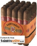 Santiago Robusto Cigars made in Dominican Republic. 3 x Bundle of 25, 75 total.
