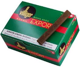 Villiger Export Brasil Pressed cigars, 40 x 5 Pack. Free shipping!