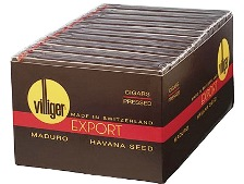 Villiger Export Maduro Pressed cigars, 20 x 5 Pack. Free shipping!
