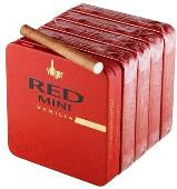 Villiger Red Mini Vanilla Filter cigars made in Switzerland, 20 x 5 Pack. Free shipping!