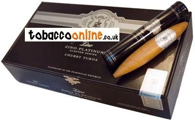 Zino Platinum Scepter Chubby Tubos cigars made in Dominican Republic. Box of 20.