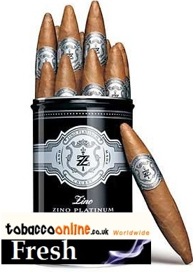 Zino Platinum Scepter Chubby cigars made in Dominican Republic. 2 x Canister of 12.