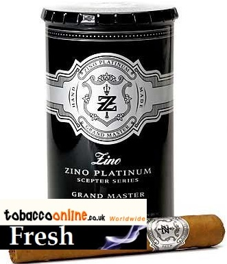 Zino Platinum Scepter Grand Master cigars made in Dominican Republic. Canister of 12.