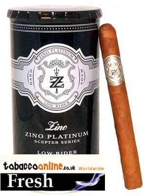 Zino Platinum Scepter Low Rider cigars made in Dominican Republic. 2 x Canister of 16.