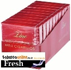 Zino Red Mini Cigarillos 10/20 Cigars made in Switzerland. Pack of 200.