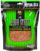 Good Stuff Menthol Gold Tobacco made in USA, 3 x 16 oz bags + 1 Free 16oz Bag! 1814g total.
