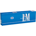 L&M Light Blue 100 Box cigarettes made in USA, 5 cartons, 50 packs. Free shipping!