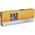 L&M Turkish Blend 100 Box cigarettes made in USA, 5 cartons, 50 packs. Free shipping!