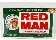 Red Man Wintergreen Chewing Tobacco made in USA, 10 x 85 g pouches, 850 g total. Free shipping!